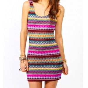 NastyGal X MinkPink Colorful Mini Dress 👗